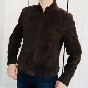 Kate Hill Brown Suede Leather Jacket women's 10